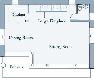 Merlo Chalet Second Level Floor Plan in Le Miroir, Ste Foy