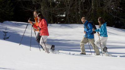 Snowshoeing in Sainte Foy