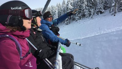 Skiing and Snowboarding in Sainte Foy