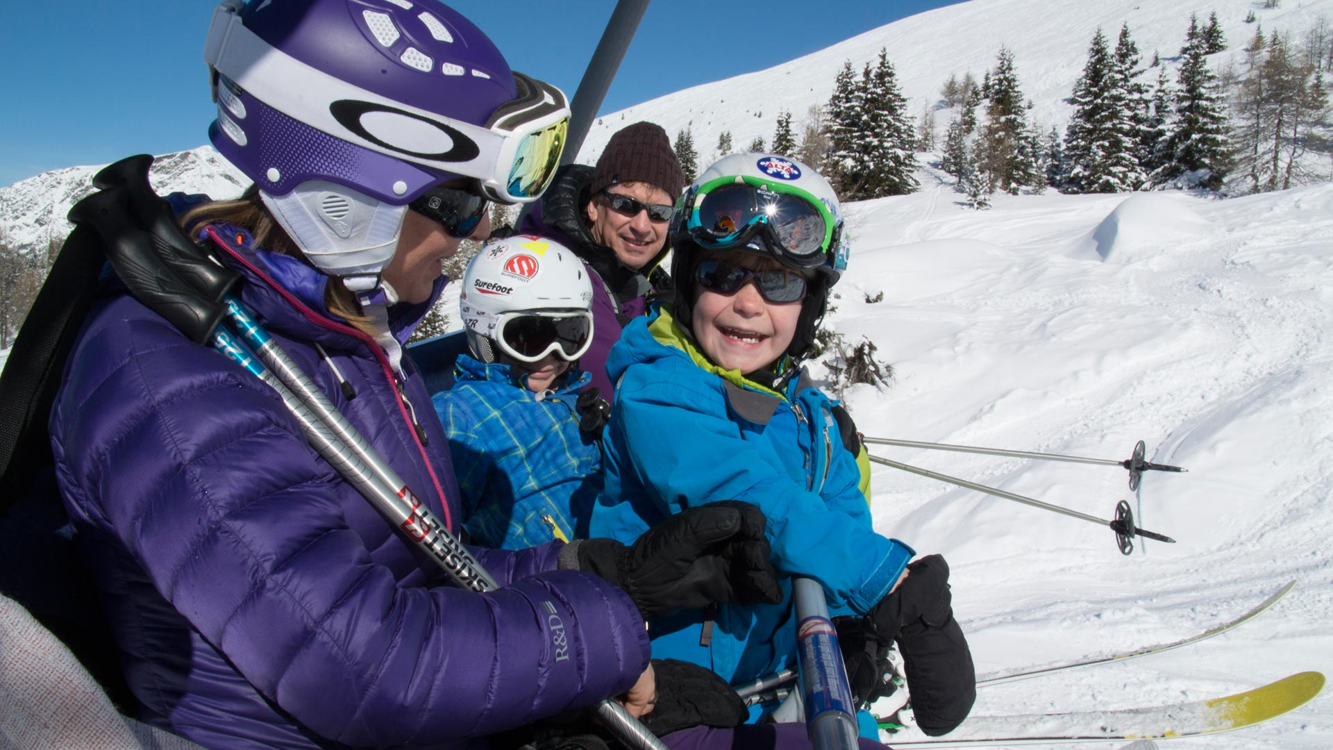 Family Skiing in Sainte Foy Resort