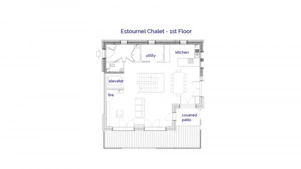 Estournel luxury self catered chalet in Sainte Foy, 1st floor plans