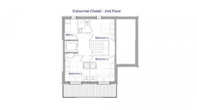 Estournel luxury self catered chalet in Sainte Foy, 2nd floor plans