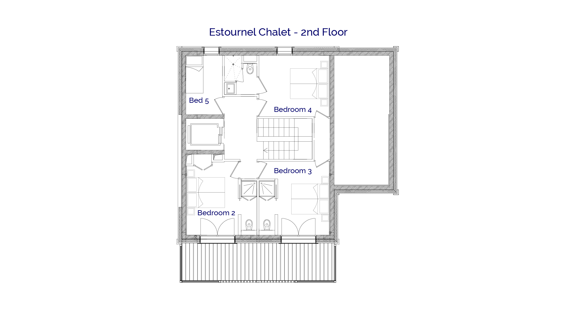Estournel luxury self catered chalet in Sainte Foy, 2nd floor plans