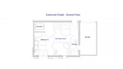 Estournel luxury self catered chalet in Sainte Foy, Ground floor plans