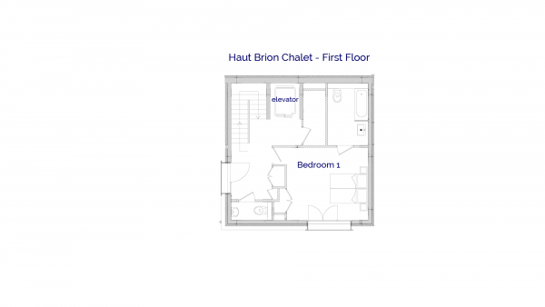 Haut Brion luxury self catered chalet in Sainte Foy, 1st floor plans