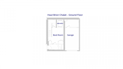 Haut Brion luxury self catered chalet in Sainte Foy, Ground floor plans