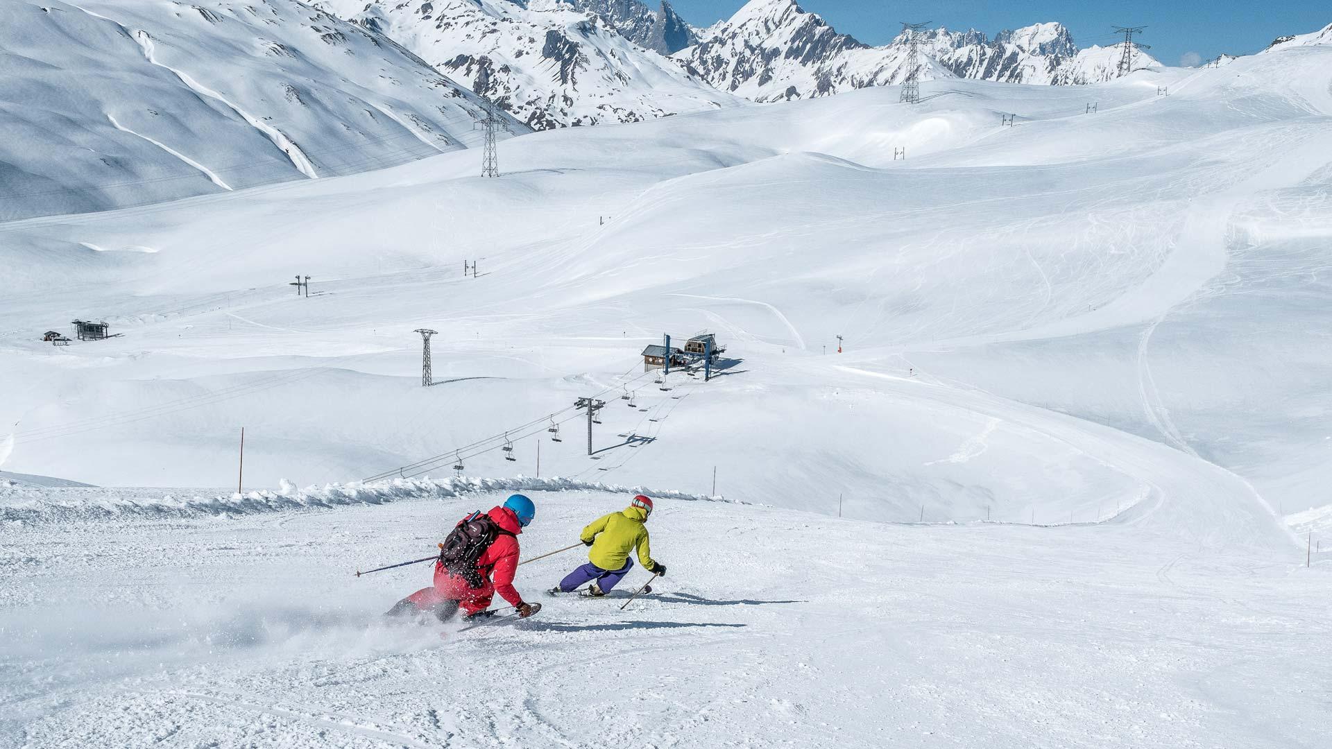 Skiing in La Rosiere