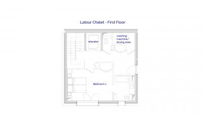 Latour luxury self catered chalet in Sainte Foy, 1st floor plans