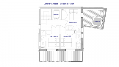 Latour luxury self catered chalet in Sainte Foy, 2nd floor plans