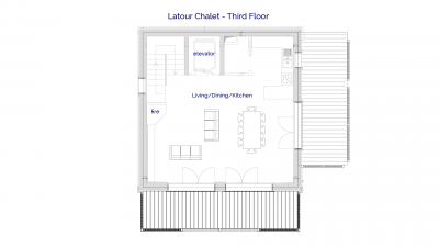 Latour luxury self catered chalet in Sainte Foy, 3rd floor plans