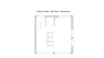Latour luxury self catered chalet in Sainte Foy, 4th floor plans