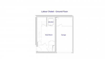 Latour luxury self catered chalet in Sainte Foy, Ground floor plans