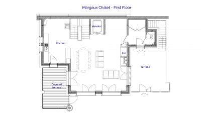 Margaux luxury self catered chalet in Sainte Foy, 1st floor plans