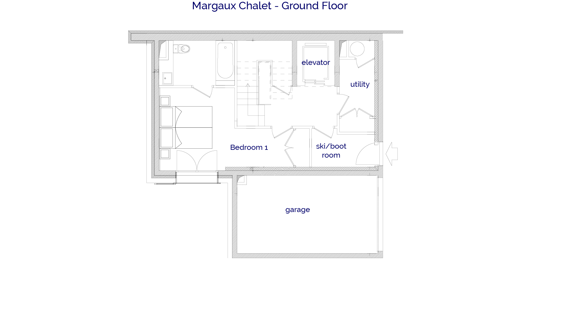 Margaux luxury self catered chalet in Sainte Foy, Ground floor plans