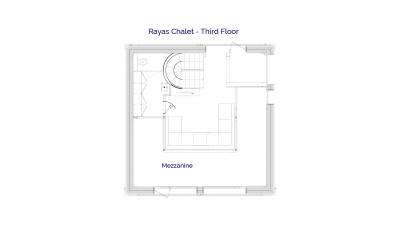 3rd Floor plan of luxury self catered Rayas chalet in Sainte Foy