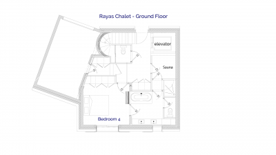 Ground Floor plan of luxury self catered Rayas chalet in Sainte Foy