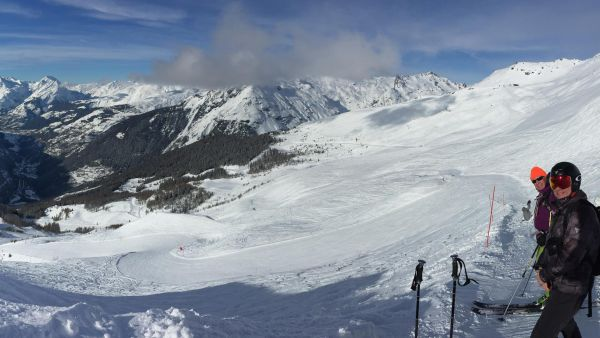Quiet slopes in Sainte Foy