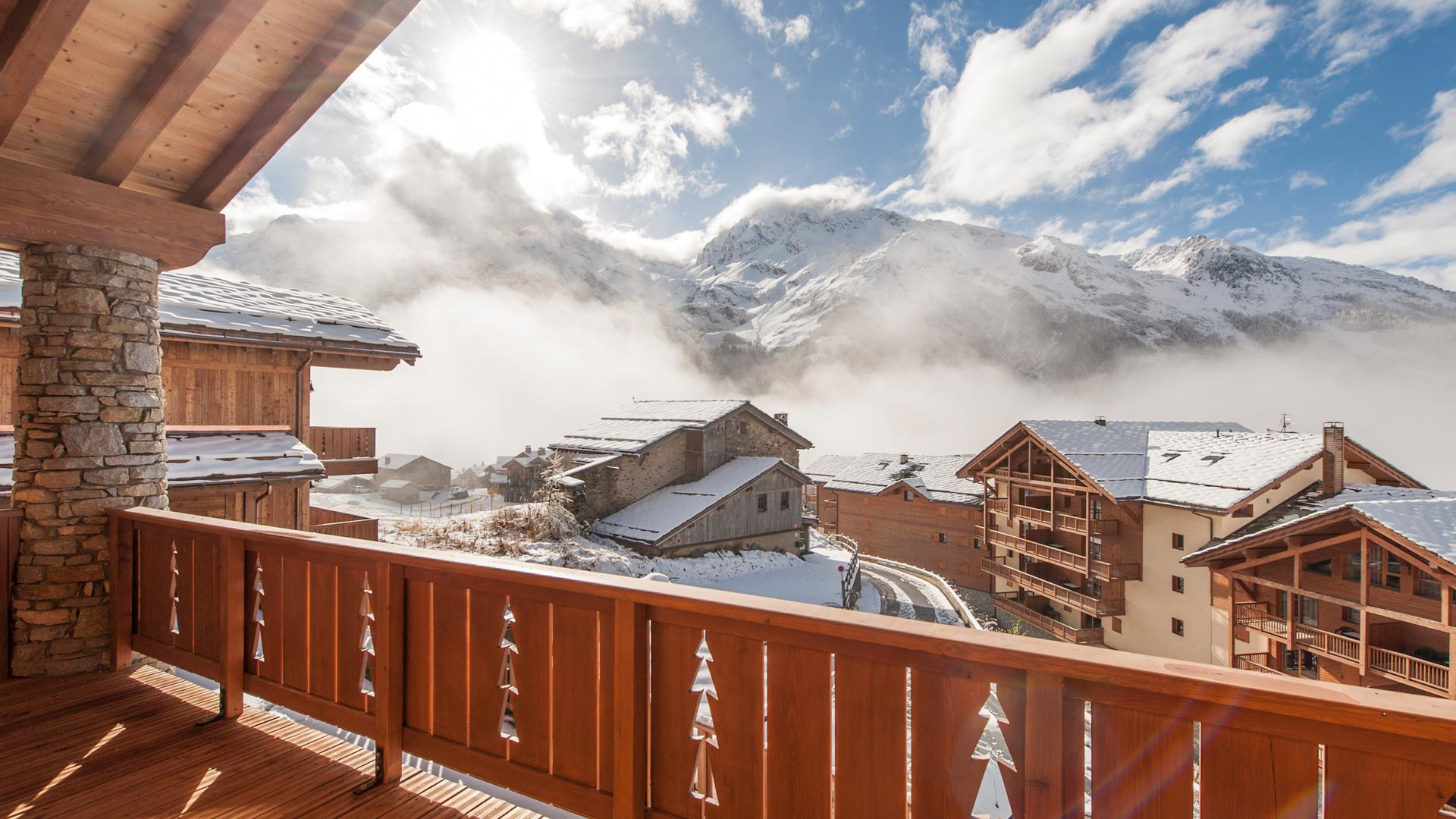 Bedroom 3 & 4 Balcony - Margaux Luxury Self catered chalet in Sainte Foy
