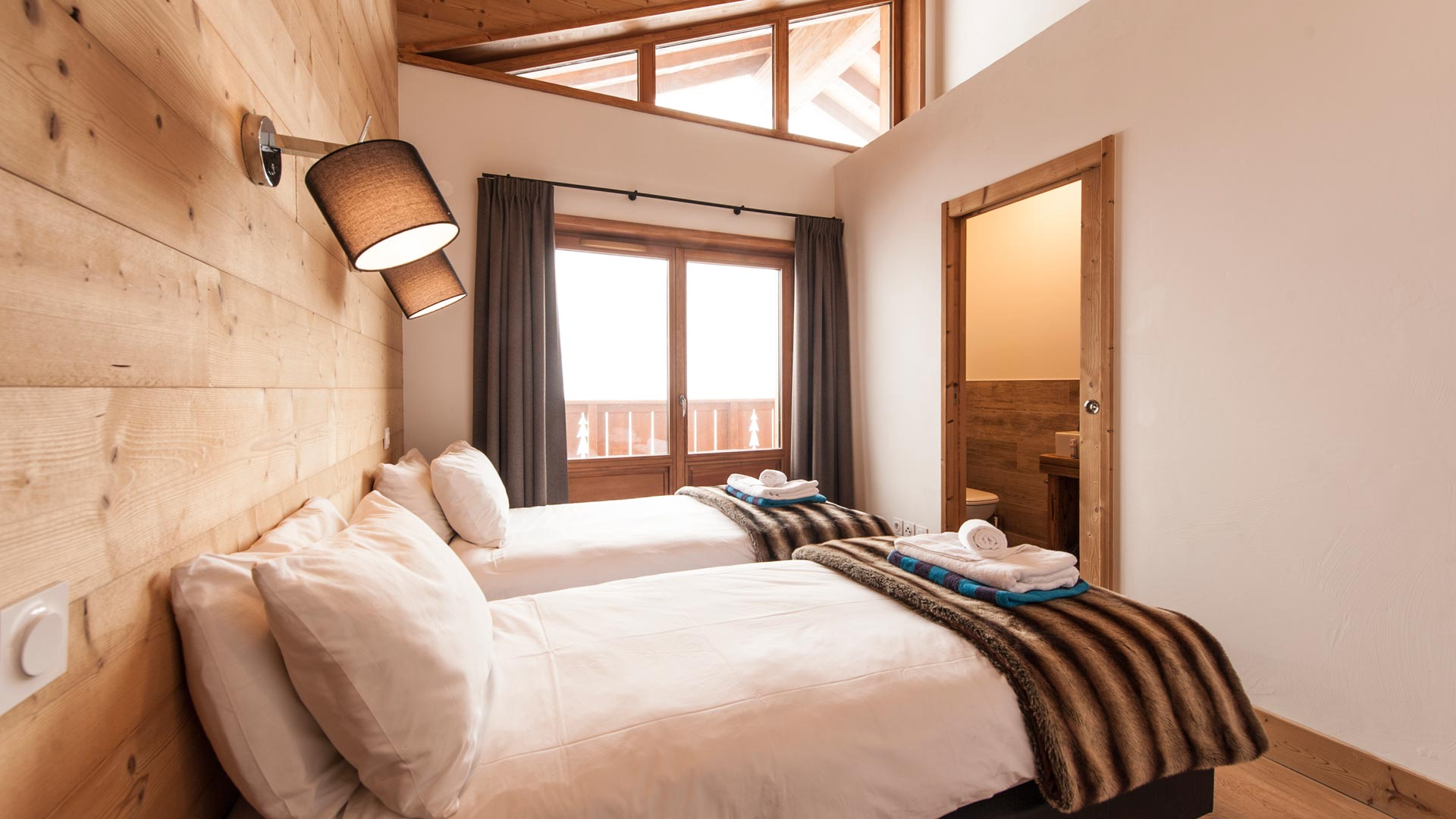 Bedroom 3 - Estournel Luxury Self catered chalet in Sainte Foy