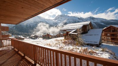 Bedrooms 2 & 3 balcony, Estournel Luxury Self catered chalet in Sainte Foy