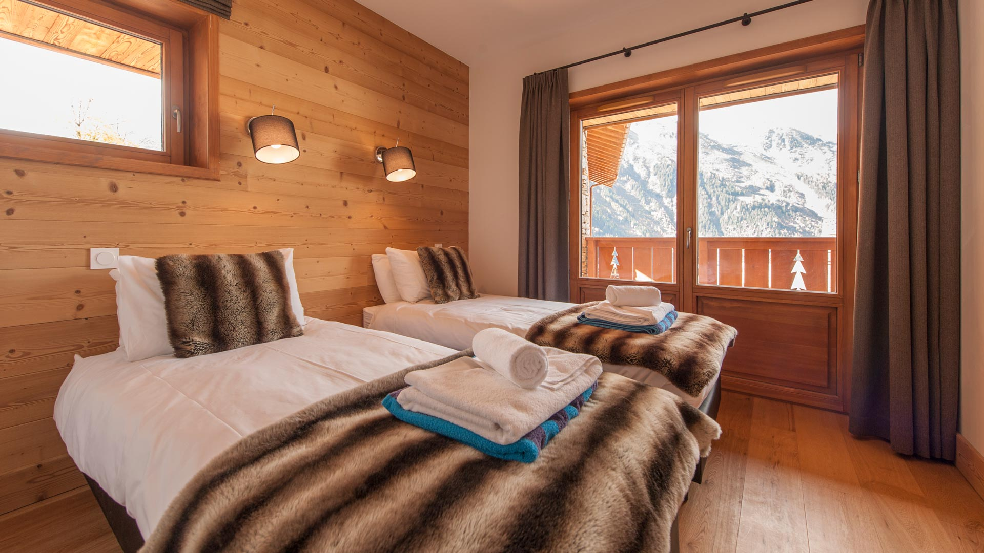 Bedroom 3 - Haut Brion Luxury Self Catered Chalet in Sainte Foy