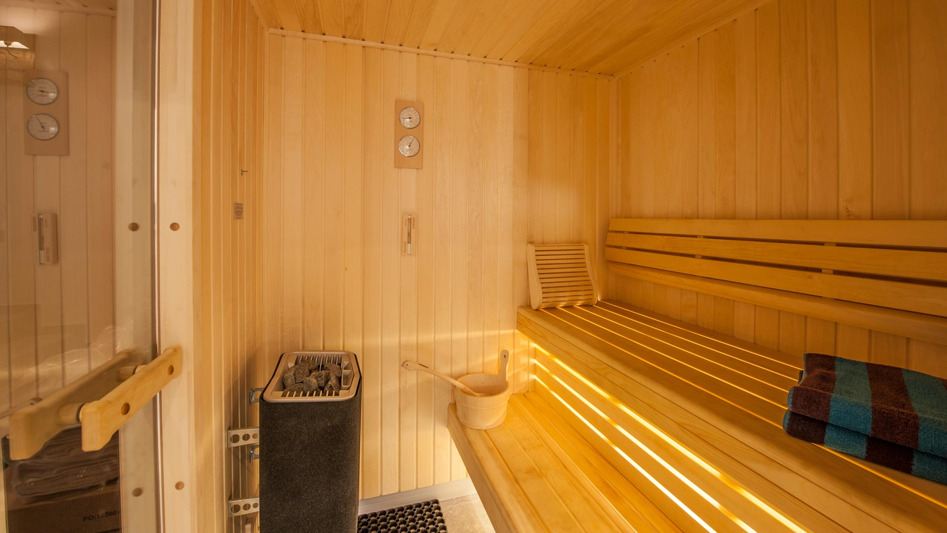 The sauna- Rayas Luxury Self catered chalet in Sainte Foy