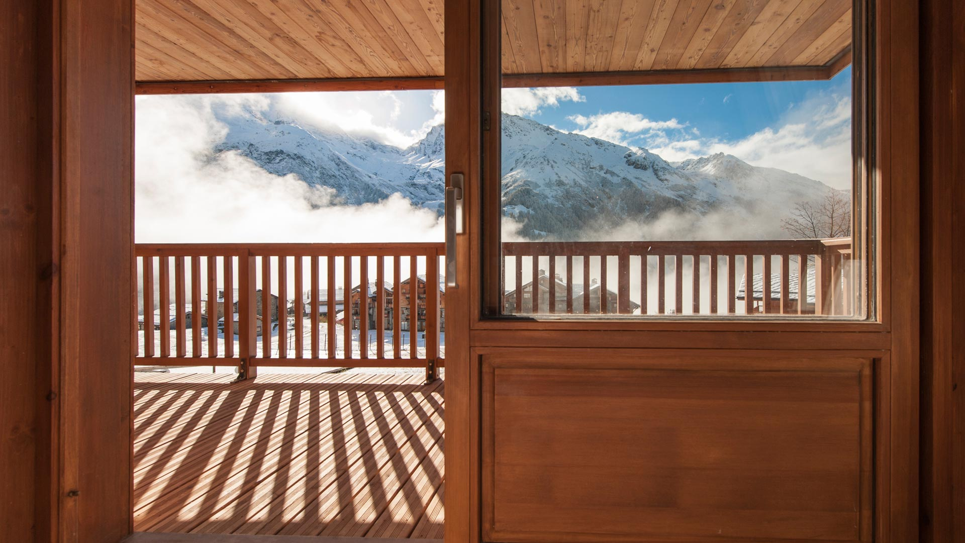 Bedroom 2 Balcony - Rayas Luxury Self catered chalet in Sainte Foy