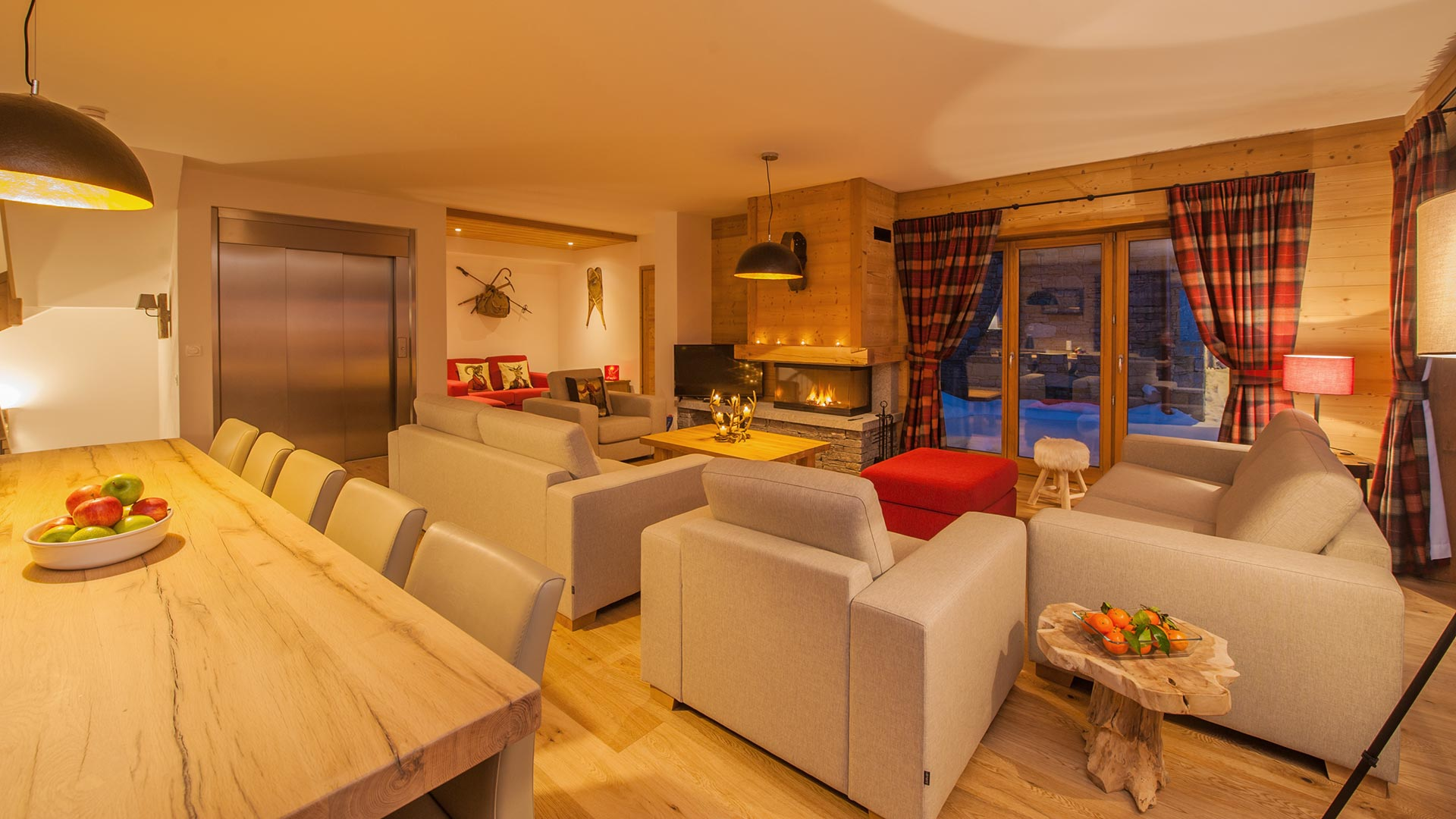 Living Room - Margaux Luxury Self catered chalet in Sainte Foy