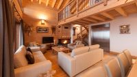 The living room of Luxury Self Catered Chalet Latour in Sainte Foy