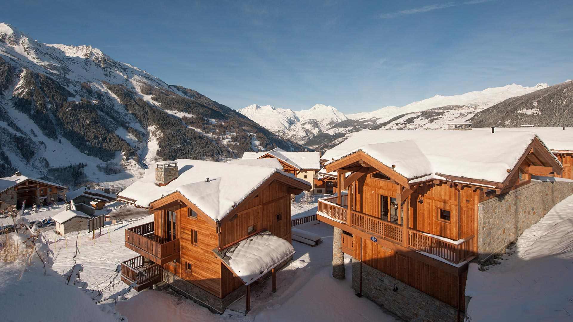 Les Hauts du Monal luxury self-catered chalets in Sainte Foy