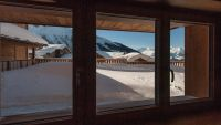 View from bedroom 1 in Luxury self-catered Latour Chalet