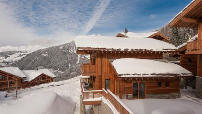 Estournel Chalet after a snowfall.