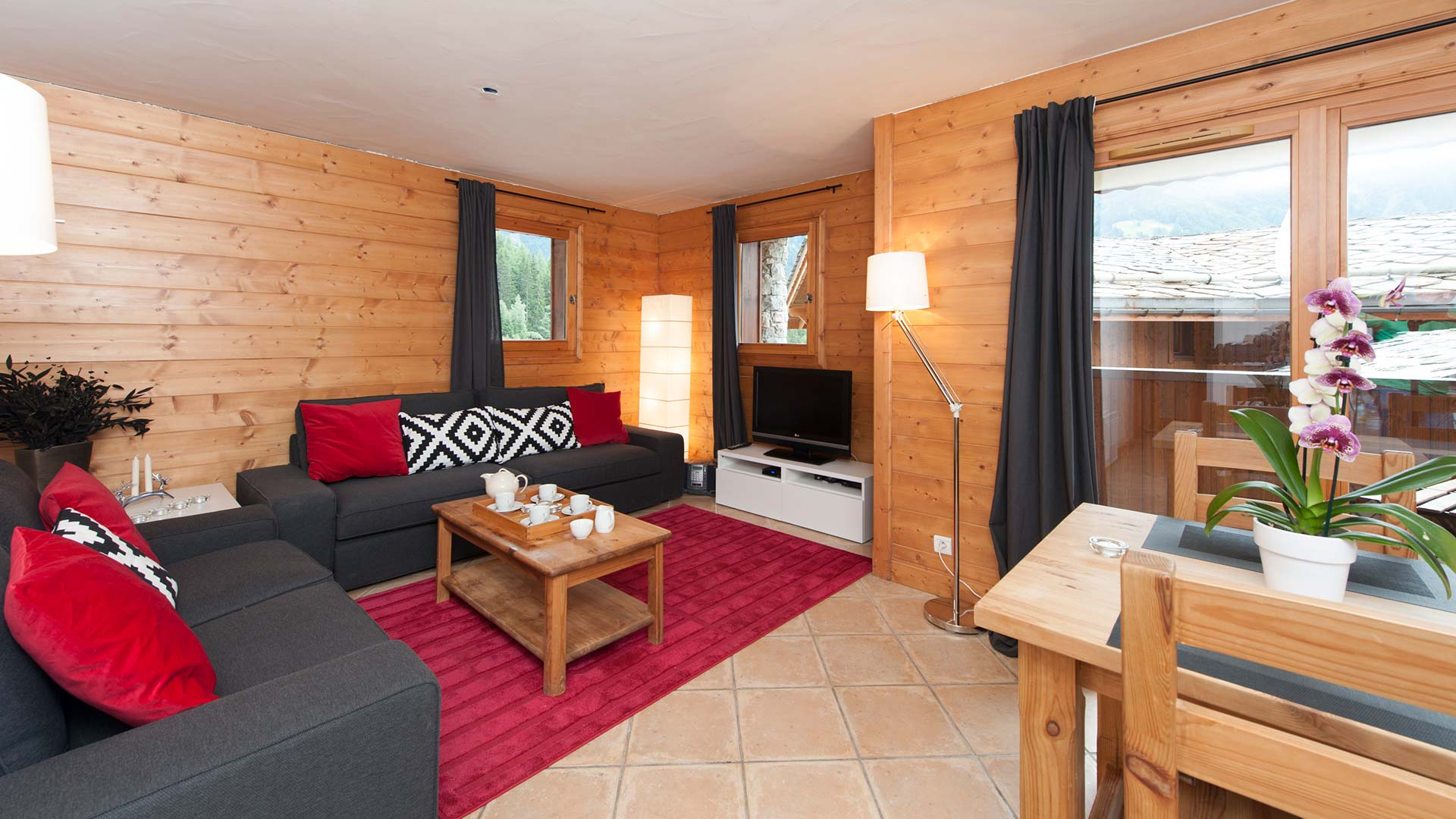 Apartment Agneau living room, sleeps 4, self catering.