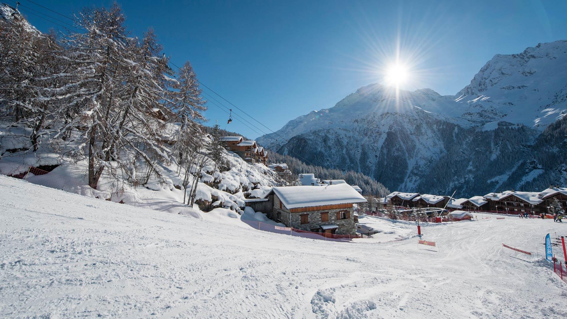 Nursery slopes Sainte Foy Ski Resort