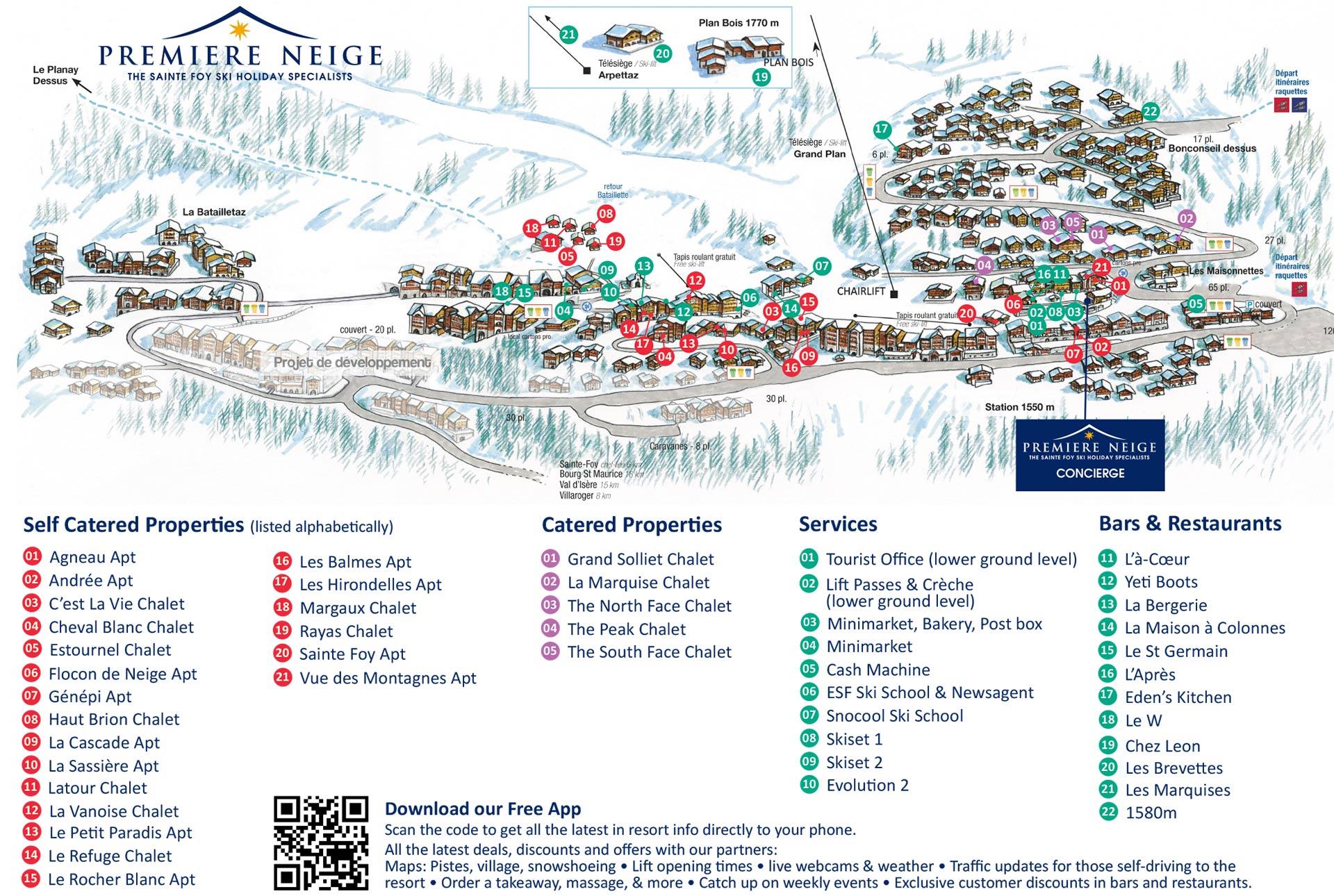 Sainte Foy Resort & property location map