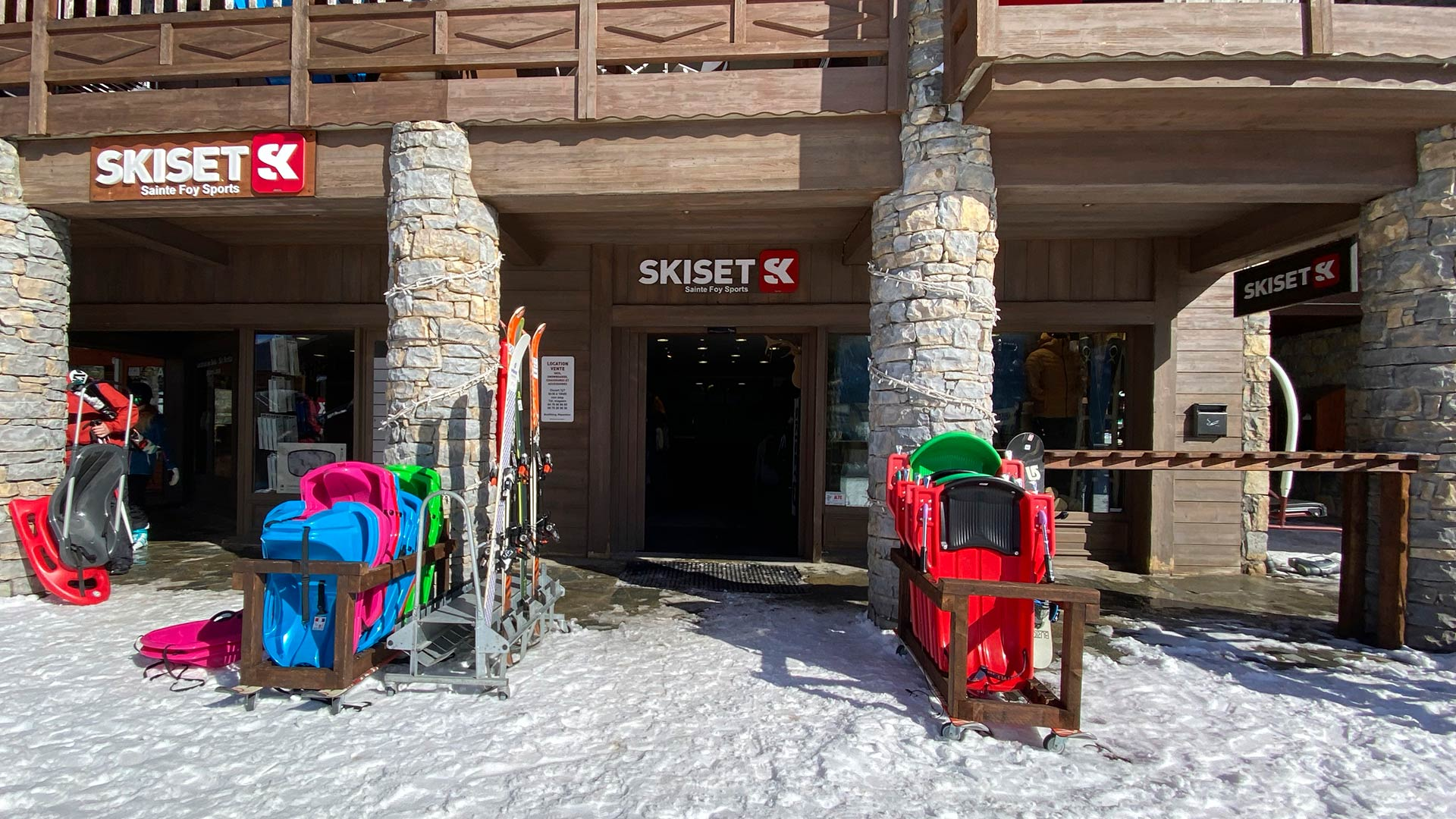 Sainte Foy Sports Skiset shop