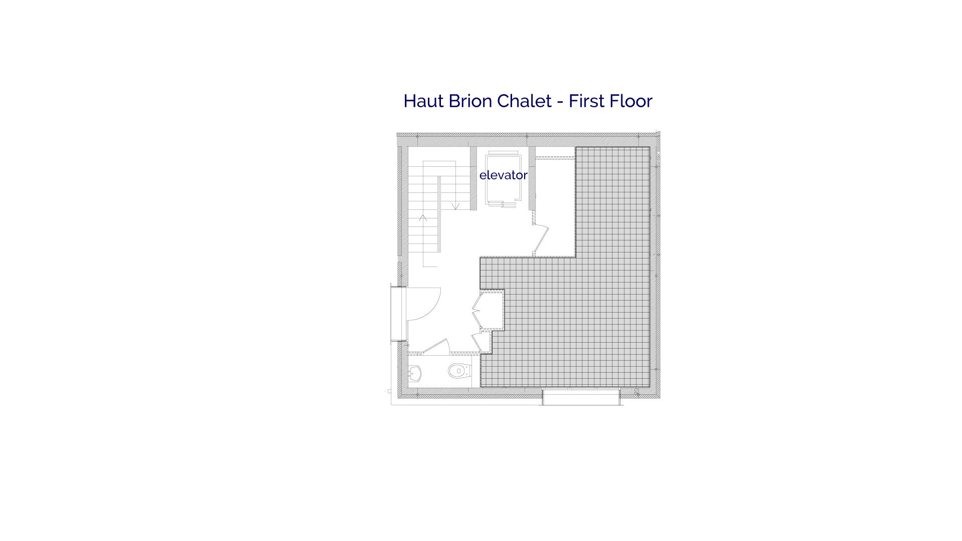 Haut Brion luxury self catered chalet in Sainte Foy, 1st floor plans