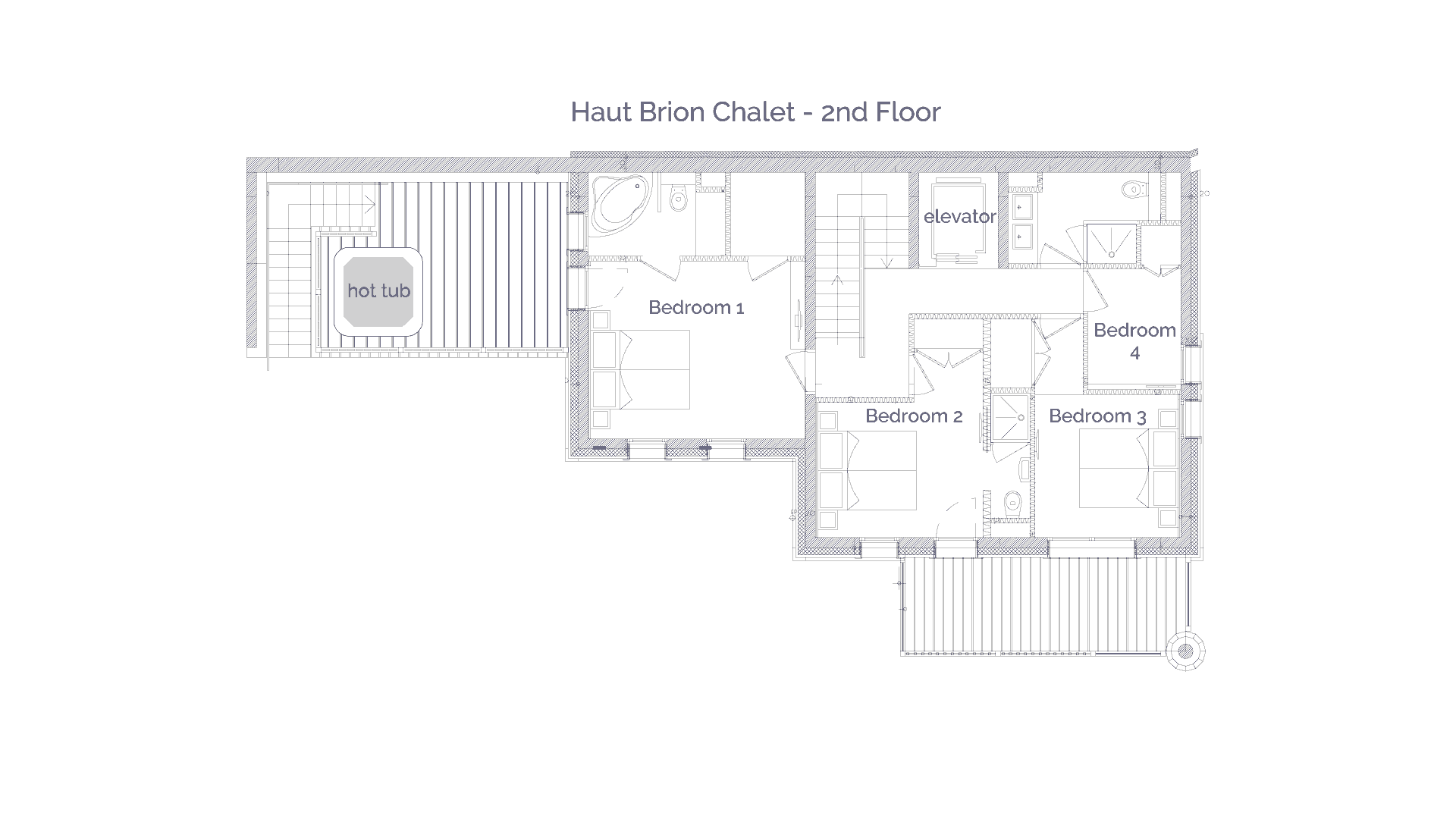 Haut Brion luxury self catered chalet in Sainte Foy, 2nd floor plans